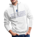 INDIANA BLUE BOMBERS MEN'S PREMIUM HOODIE - white