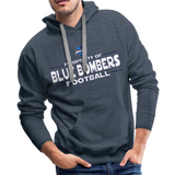 INDIANA BLUE BOMBERS MEN'S PREMIUM HOODIE - heather denim