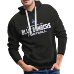 INDIANA BLUE BOMBERS MEN'S PREMIUM HOODIE - charcoal gray