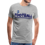 INDIANA BLUE BOMBERS MEN'S PREMIUM TEE - heather gray
