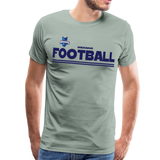 INDIANA BLUE BOMBERS MEN'S PREMIUM TEE - steel green