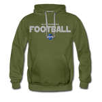 INDIANA BLUE BOMBERS MEN'S PREMIUM HOODIE - olive green