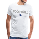 INDIANA BLUE BOMBERS MEN'S PREMIUM TEE - white