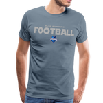 INDIANA BLUE BOMBERS MEN'S PREMIUM TEE - steel blue