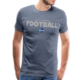 INDIANA BLUE BOMBERS MEN'S PREMIUM TEE - heather blue