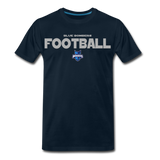 INDIANA BLUE BOMBERS MEN'S PREMIUM TEE - deep navy