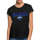 INDIANA BLUE BOMBERS SPECIALITY WOMEN'S RELAXED TEE - black