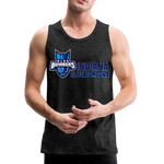 INDIANA BLUE BOMBERS MEN'S PREMIUM TANK - charcoal gray