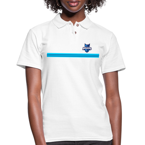 INDIANA BLUE BOMBERS WOMEN'S PIQUE POLO - white