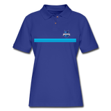 INDIANA BLUE BOMBERS WOMEN'S PIQUE POLO - royal blue