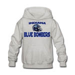 INDIANA BLUE BOMBERS KID'S HOODIE - heather gray