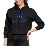 INDIANA BLUE BOMBERS WOMEN'S CROPPED HOODIE - deep heather