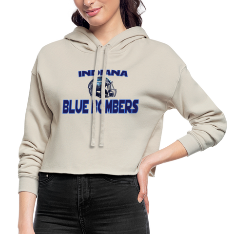 INDIANA BLUE BOMBERS WOMEN'S CROPPED HOODIE - dust