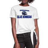 INDIANA BLUE BOMBERS WOMEN'S KNOTTED TEE - white