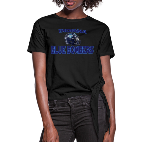 INDIANA BLUE BOMBERS WOMEN'S KNOTTED TEE - black