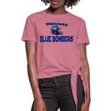 INDIANA BLUE BOMBERS WOMEN'S KNOTTED TEE - mauve