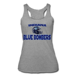 INDIANA BLUE BOMBERS WOMEN'S TRI-BLEND RACERBACK TANK - heather gray