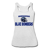 INDIANA BLUE BOMBERS WOMEN'S TRI-BLEND RACERBACK TANK - heather white