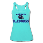 INDIANA BLUE BOMBERS WOMEN'S TRI-BLEND RACERBACK TANK - turquoise