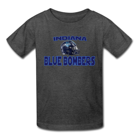 INDIANA BLUE BOMBERS KID'S TEE - heather black