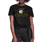 ATLANTA WILDCATS WOMEN'S KNOTTED TEE - black