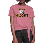 ATLANTA WILDCATS WOMEN'S KNOTTED TEE - mauve