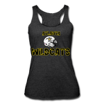 ATLANTA WILDCATS WOMEN'S TRI-BLEND RACERBACK TANK - heather black