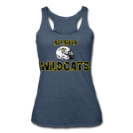 ATLANTA WILDCATS WOMEN'S TRI-BLEND RACERBACK TANK - heather navy