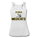 ATLANTA WILDCATS WOMEN'S TRI-BLEND RACERBACK TANK - heather white