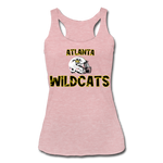 ATLANTA WILDCATS WOMEN'S TRI-BLEND RACERBACK TANK - heather dusty rose