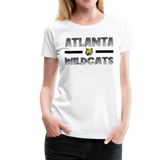 ATLANTA WILDCATS WOMEN'S PREMIUM TEE - white