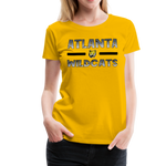 ATLANTA WILDCATS WOMEN'S PREMIUM TEE - sun yellow