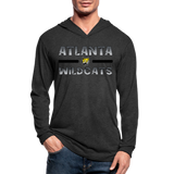 ATLANTA WILDCATS UNISEX TRI-BLEND LONG SLEEVE - heather black