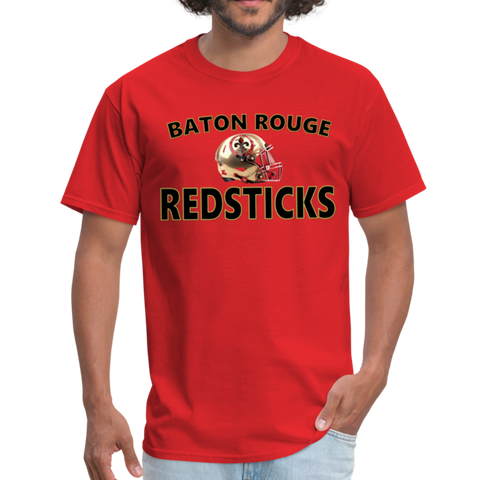 BATON ROUGE REDSTICKS UNISEX TEE - red