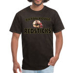 BATON ROUGE REDSTICKS UNISEX TEE - mineral black