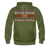 BATON ROUGE REDSTICKS MEN'S PREMIUM HOODIE - olive green