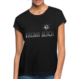 VIRGINIA BEACH DESTROYERS WOMEN'S RELAXED TEE - black