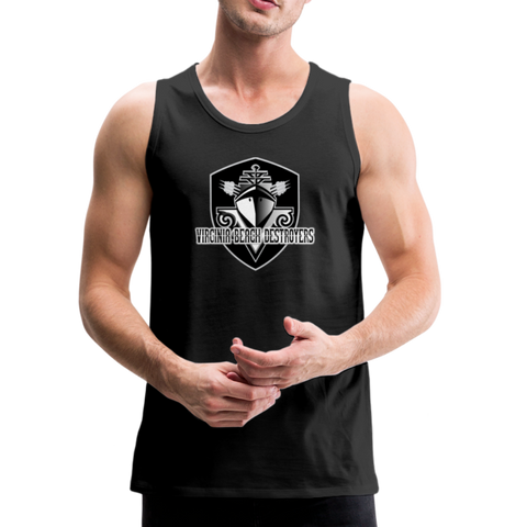 VIRGINIA BEACH DESTROYERS MEN'S PREMIUM TANK - black