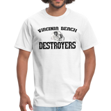 VIRGINIA BEACH DESTROYERS UNISEX TEE - white