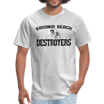 VIRGINIA BEACH DESTROYERS UNISEX TEE - heather gray