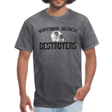 VIRGINIA BEACH DESTROYERS UNISEX TEE - mineral charcoal gray