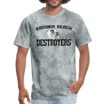 VIRGINIA BEACH DESTROYERS UNISEX TEE - grey tie dye