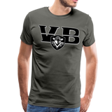 VIRGINIA BEACH DESTROYERS SPECIALITY MEN'S PREMIUM TEE - asphalt gray
