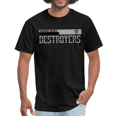 VIRGINIA BEACH DESTROYERS UNISEX TEE - black