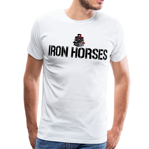 VIRGINIA IRON HORSES MEN'S PREMIUM TEE - white