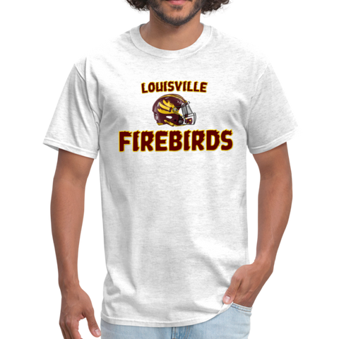 LOUISVILLE FIREBIRDS UNISEX TEE - light heather gray