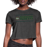 MISSISSIPPI MUDCATS WOMEN'S CROPPED TEE - deep heather
