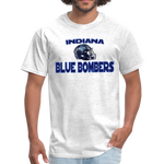 INDIANA BLUE BOMBERS UNISEX TEE - light heather gray