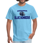 INDIANA BLUE BOMBERS UNISEX TEE - aquatic blue
