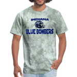 INDIANA BLUE BOMBERS UNISEX TEE - military green tie dye